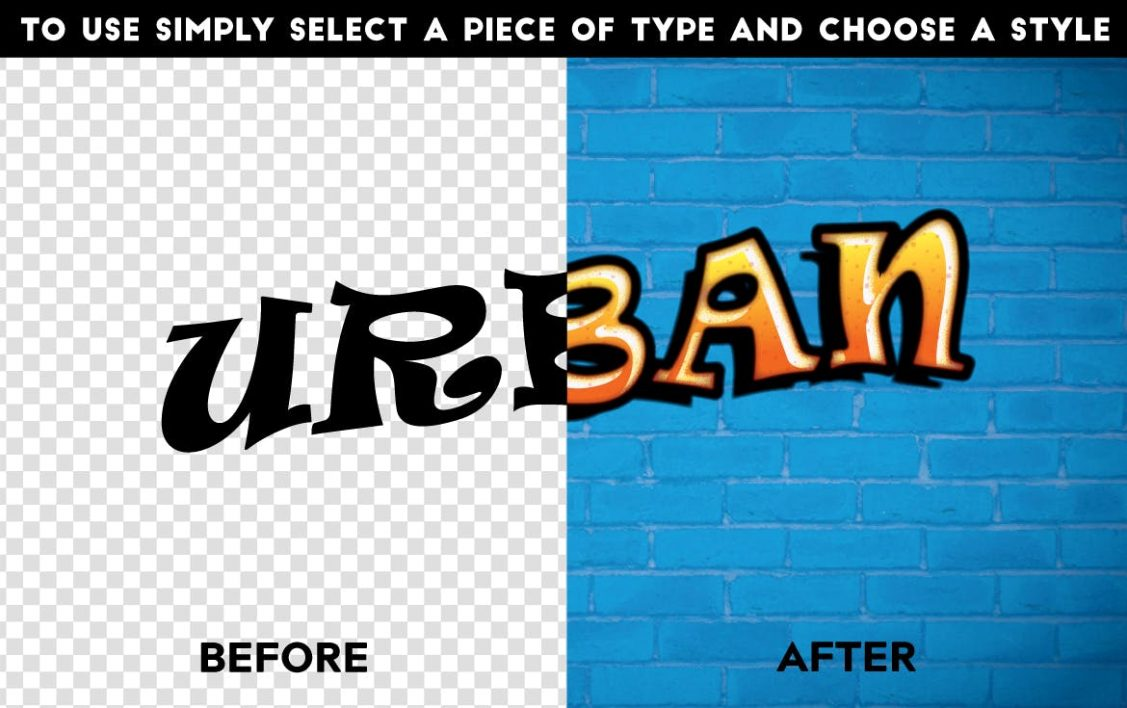 Before and After Text effect