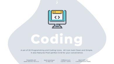 Photo of [Illustrator] 20 Coding Icon Set