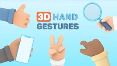 Photo of [After Effects] 3D Hand Gestures