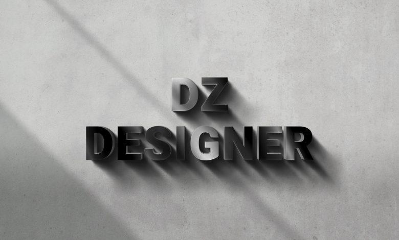 3D Sign Mockup Scene for Photoshop