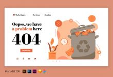Photo of 404 Error Page – Web Illustration  v2