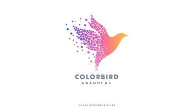 Photo of [Illustrator] Abstract Bird Colorful Logo