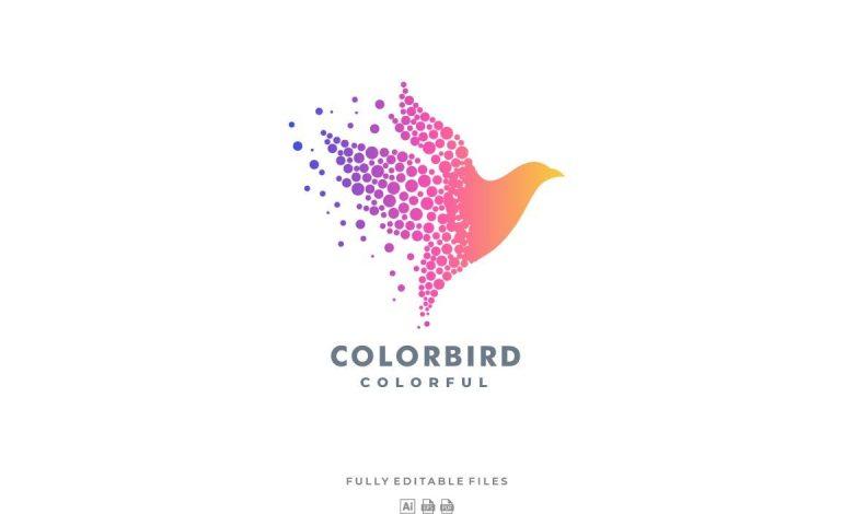 Abstract Bird Colorful Logo for Adobe Illustrator