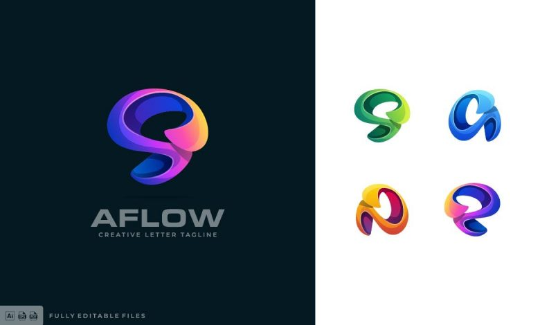Abstract Colorful Logo Template 4 for Illustrator