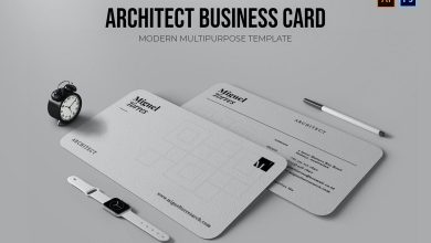 Photo of Architect Business Card for Photoshop and Illustrator