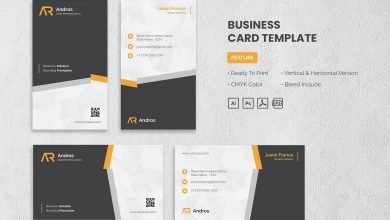 Photo of Business Card Template v3 for Photoshop and Illustrator
