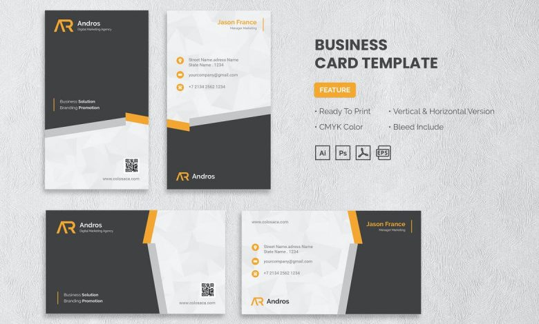 Business Card Template v3 for Photoshop and Illustrator