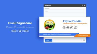 Photo of Creative Email Signature v2 for Photoshop and Illustrator