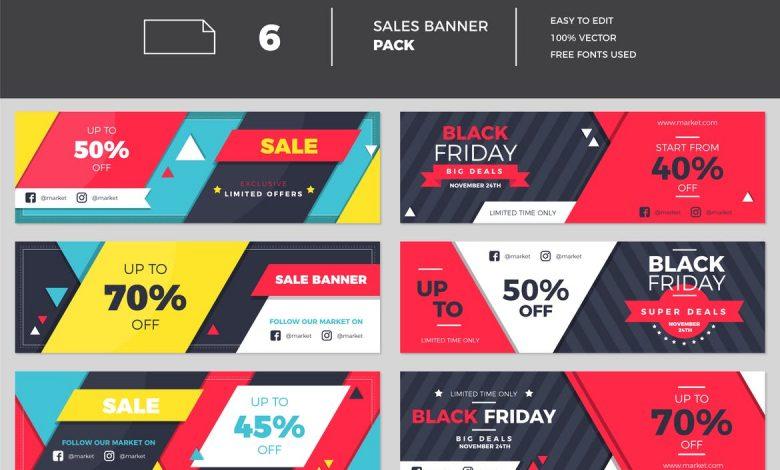 Flat Banner Collection for Adobe Illustrator