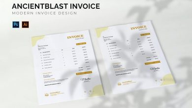 Photo of Modern Invoice Design Template 2 for Photoshop and Illustrator