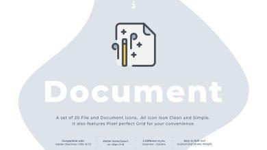 Photo of [Illustrator] 20 Document Icon Set