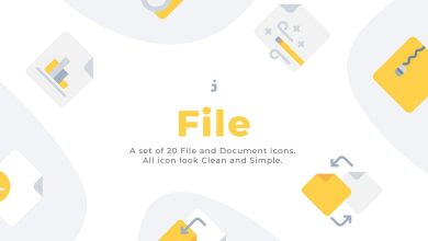 Photo of [Illustrator] 20 File and Document Flat Icons
