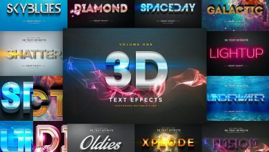 Photo of [Photoshop] 3D Text Effects Vol 1