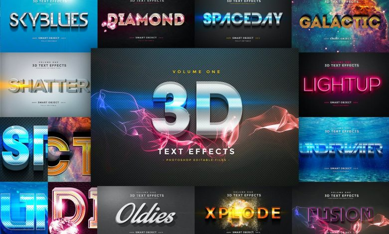 3D Text Effects Vol 1 for Photoshop