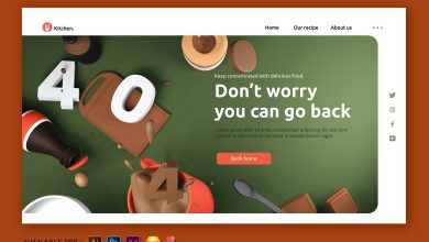 Photo of 404 Page Error – Web 3D Illustration for Photoshop and Illustrator