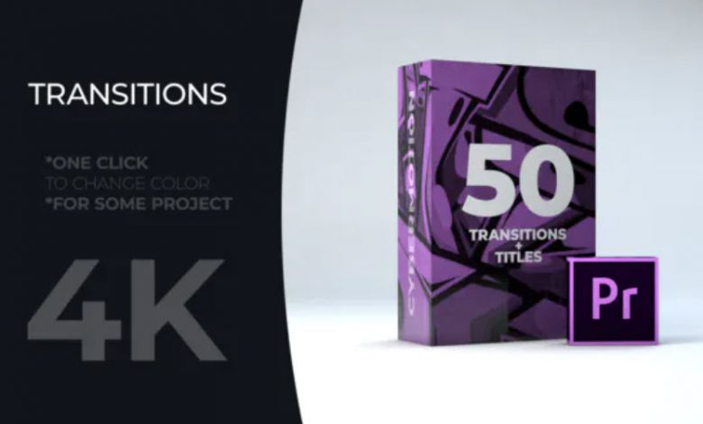 50 Title Transitions for Premiere Pro