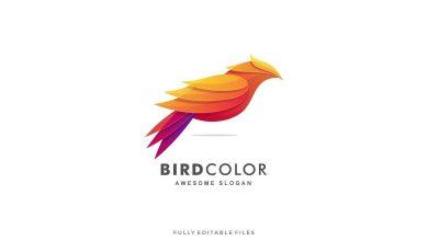 Photo of [Illustrator] Abstract Bird Color Gradient Logo