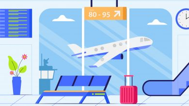 Photo of Airport Background Illustration for Illustrator and Photoshop