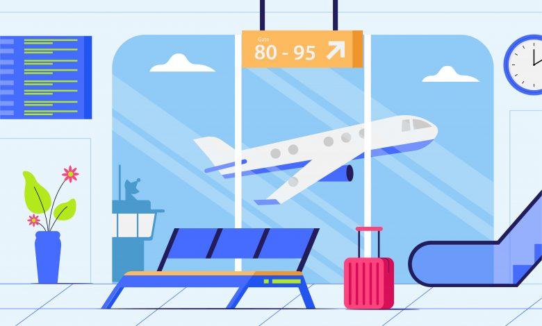 Airport - Background Illustration