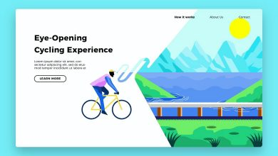 Photo of [Illustrator] Bicycle Out Banner and Landing Page