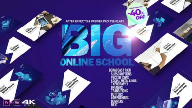 Photo of [After Effects] Big Online School Broadcast Pack