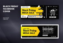 Photo of [Illustrator] Black Friday Facebook Cover Template