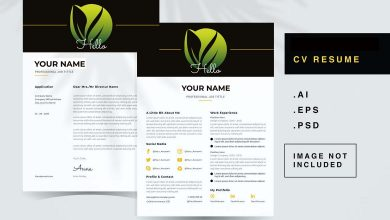 Photo of CV Resume Template 5 for Photoshop and Illustrator