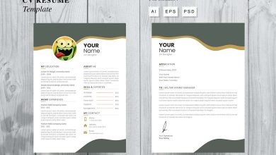 Photo of CV Resume Template 6 for Photoshop and Illustrator