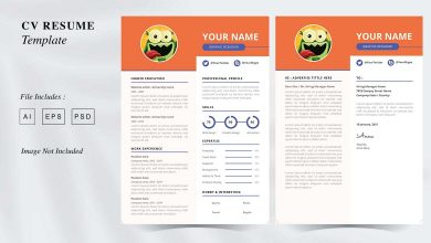 Photo of CV Resume Template 7 for Photoshop and Illustrator