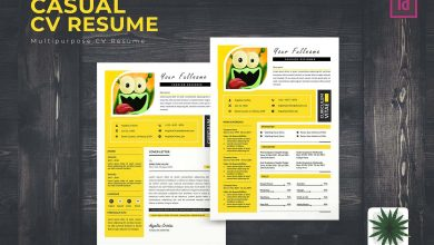 Photo of [InDesign] Casual CV Resume Template