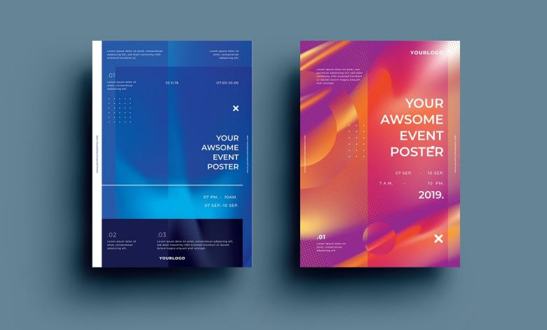 Creative Poster Design Template 2 for Adobe Illustrator