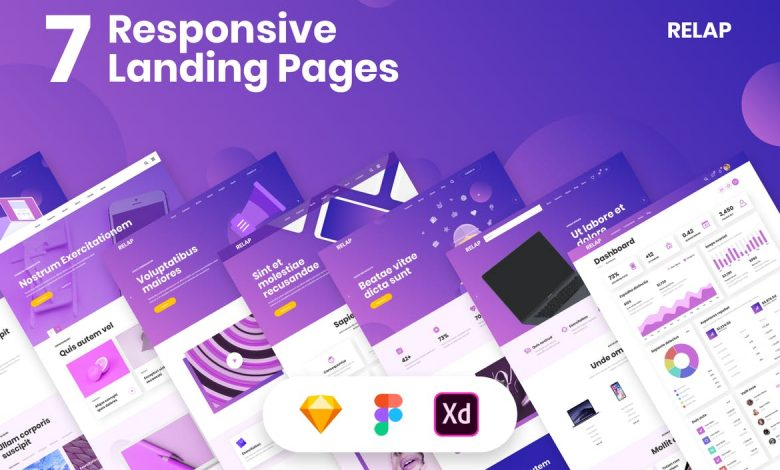 Responsive Landing Pages for Adobe XD